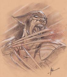 Wolverine Rage by Abstraq
