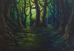 Green night by QuicksilverCat
