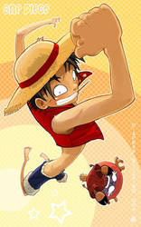 One Piece - Luffy and Chopper by VanOxymore