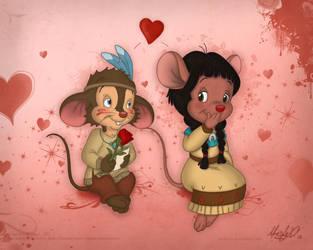 Fievel and Cholena - Valentine by Maxl654