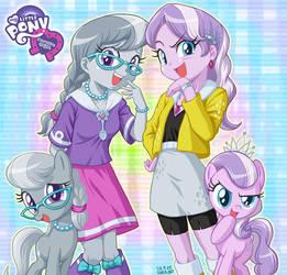 Equestria Girls Silver Spoon and Diamond Tiara by uotapo