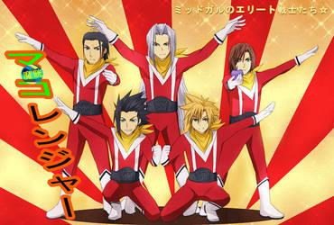 CCFF7- Mako Rangers by meru-chan