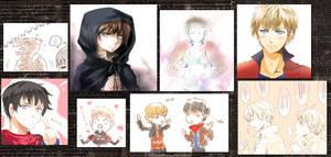 Merlin doodlesss by meru-chan