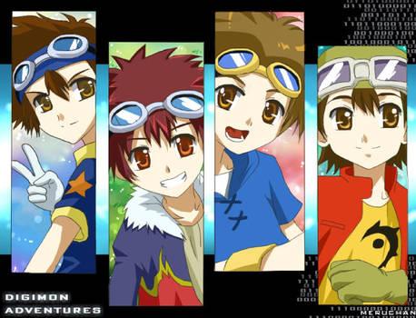 Digimon:Goggle bois by meru-chan