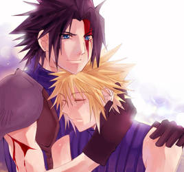 FF7- Zack x Cloud by meru-chan