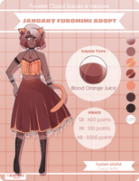 January Furomimi Adopt [Blood Orange juice] OPEN by Freckled-Jellyfish