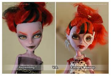 Repainting VS Factory Makeup: Operetta II by MySweetQueen-Dolls