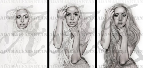 Art In Stages Lady Gaga Vanity Fair Outtake by AdamAlexisRyan