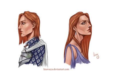 Grey Warden portraits by l-livas-l