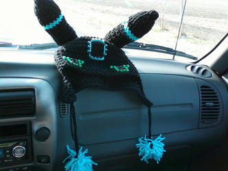 Blue ringed Umbreon Hat by TinyHatter