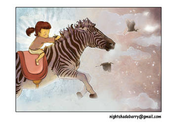 Flying Zebra by NightshadeBerry