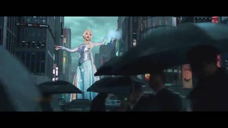 Giantess Elsa by Bluemananthony1