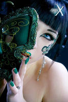 Jade Empress of Masks - III by IanStruckhoff