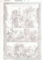 Black Label pg. 1 pencils by IanStruckhoff