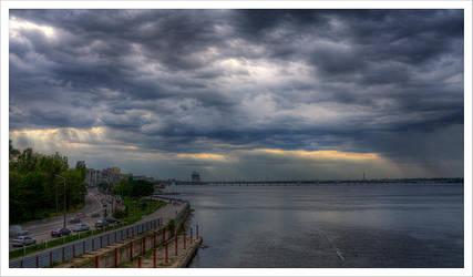 sky under city by rainbowboo