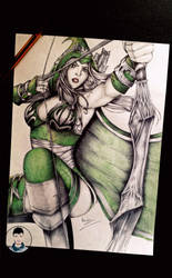 -Final- Ashe (League of Legends). by Caold