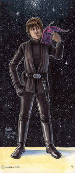 Luke Skywalker and Plif the Hoojib by Phraggle