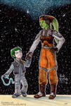Jacen and Hera Syndulla by Phraggle