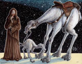 Obi-Wan Kenobi with Rooh and Child by Phraggle