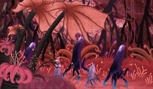 Mixotrophic Luminous Medusozoan Understorey by TrollMans