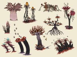 R'lyehian Flora I by TrollMans