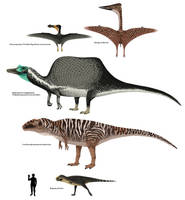 Carnivorous Ornithodirans Of Cenomanian Africa by TrollMans