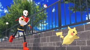 Papyrus catch Pikachu by MMDSatoshi