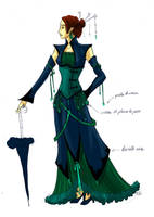 Steampunk dress by DavinArfel