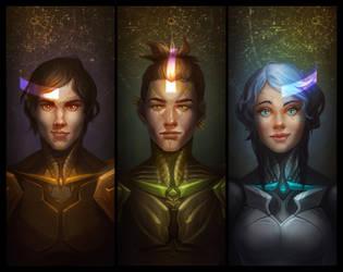 Eri trinity by DavinArfel