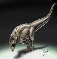 Carnotaurus Concept - colors by ArtOfNoxis