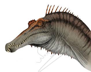 Spinosaurus Portrait - Colour by ArtOfNoxis