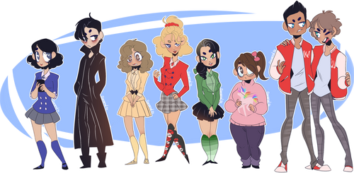 Heathers - Cast by Elemental-FA