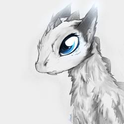 Blue Eyed Dragon by Lluminus
