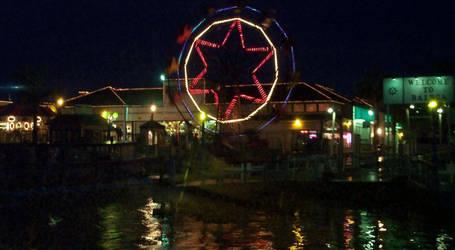 Balboa Island at Night by Heidi