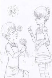 Group Collab: Flower Proposal by HeartlessVampire