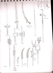 DF weapon sketches 2 by dragonsdale