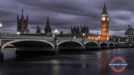 Dark clouds over London but Wearenotafraid by StefanPrech