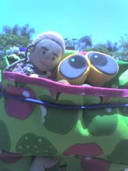 Wall-e, Chibi Obi-Wan outing by hobbitsandkilts