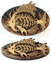 Mounted Fish (medium) by mtomsky