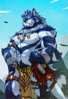 Blue wolf warrior by fliegen80s