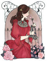 Roses and wrought iron by Noxfae