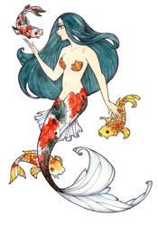 Koi mermaid by Noxfae