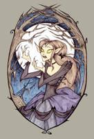 Inktober 16 - Werewolf Girl by Noxfae