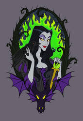 Maleficent by Noxfae