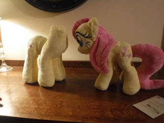 Fluttershy version 1 and version 2 together. WIP. by PlushieHut