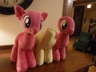 WIP Cherry Berry, Fluttershy and Lilly Valley. by PlushieHut