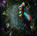 Pentecost Rainbow Gryphette (Old Version) by BJPentecost