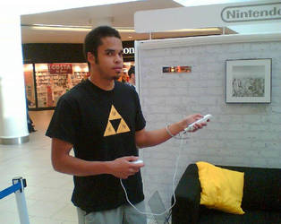 Me playing the Wii console by KrystallWolvelt