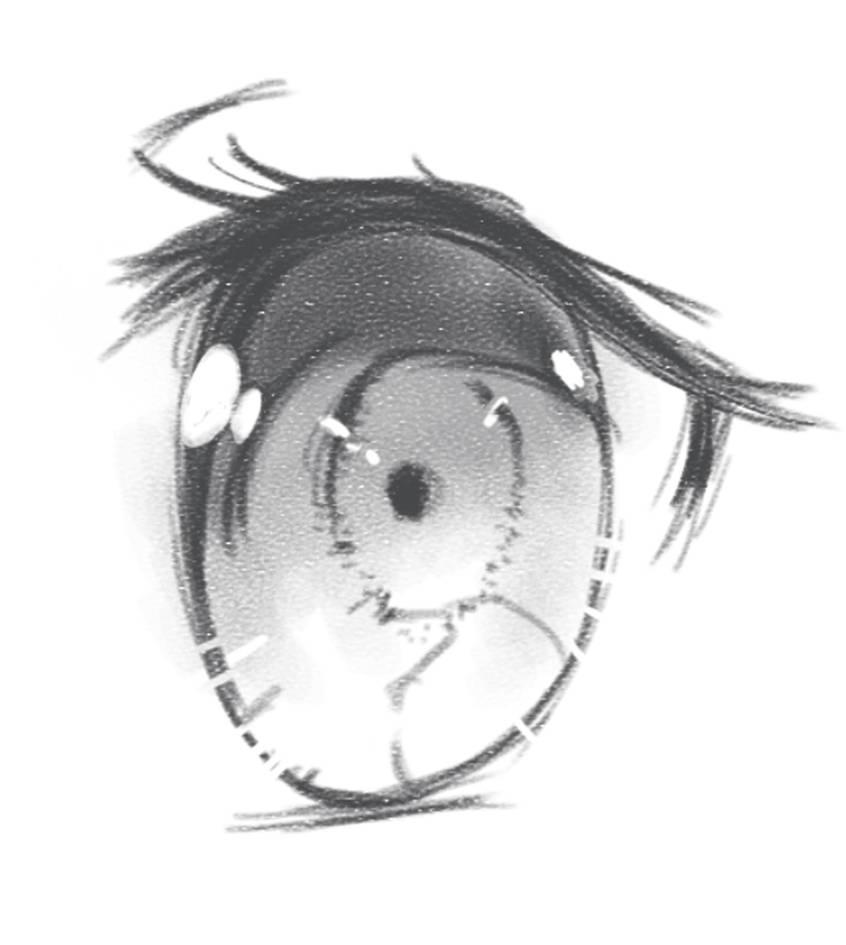 Manga eye study by Syddarta