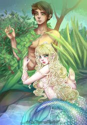 The Water Goddess and the Nature God by PeppermintRain